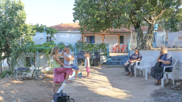 Talking feta with two generations of cheesemakers (and possibly a third) in the mountain village of Peleta.
